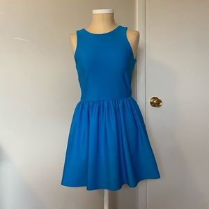 Top Shop scuba skater dress in electric blue